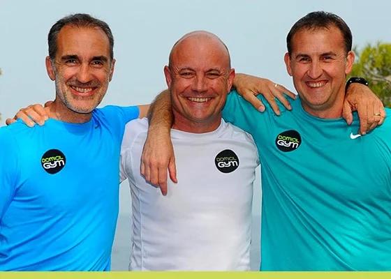 Les 3 fondateurs de Domicil'Gym : Laurent Pereira, Didier Messal et Frank Saffon
