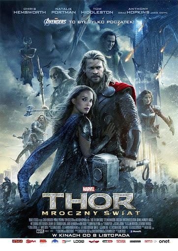 Przód ulotki filmu 'Thor: Mroczny Świat'