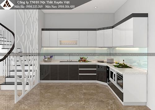 Mẫu tủ bếp đẹp bằng nhựa hình 5