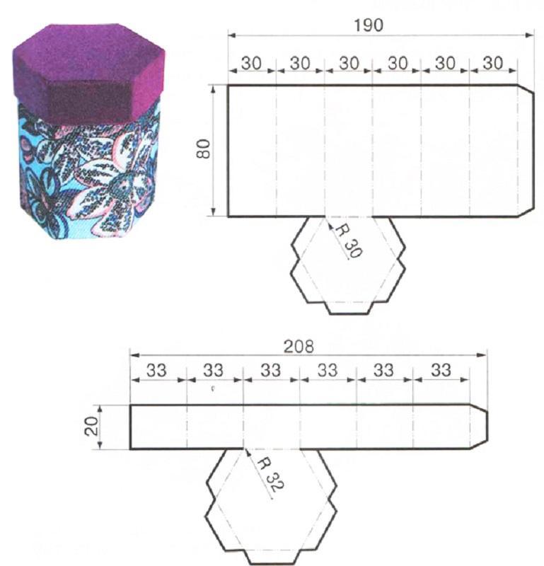 Шкатулка из картона, обтянутая тканью