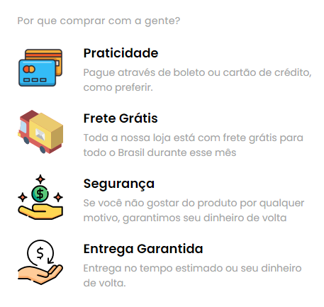 provas sociais checkout transparente cartX