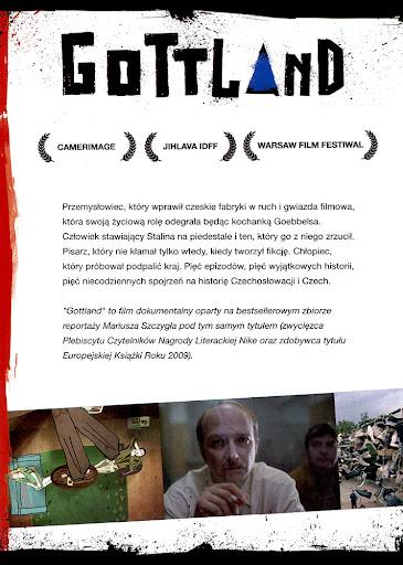 Tył ulotki filmu 'Gottland'