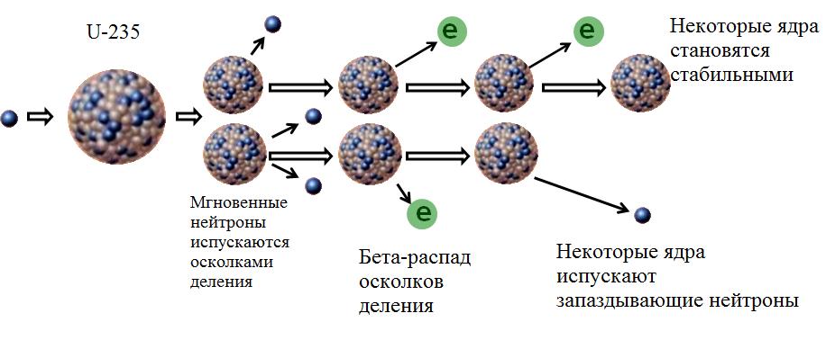 Мгновенные и запаздывающие нейтроны