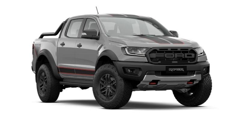 รถยนต์ Ford Ranger Raptor X สีเทา Conquer Grey