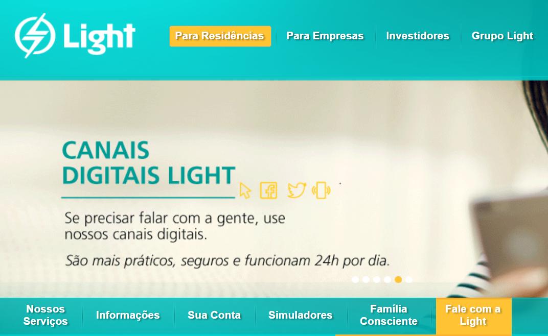 saiba onde ficam as agências presenciais no site da light