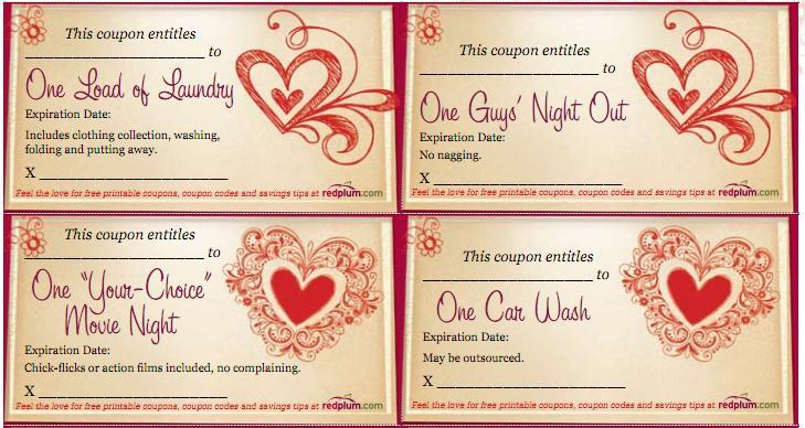 Sex love coupons for him