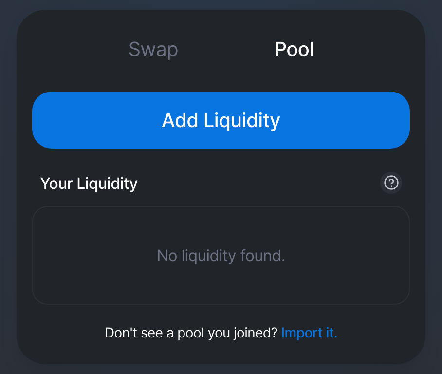 adding liquidity to Uniswap pools