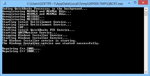 QuickBooks component repair tool-screenshot