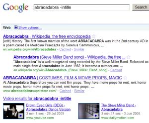 Google Search Operators intitle, allintitle, inurl, location, filetype, site