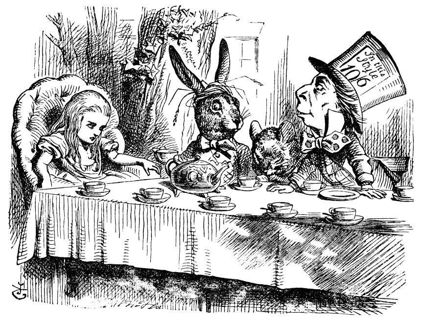 John Tenniel's Mad Tea Party illustration