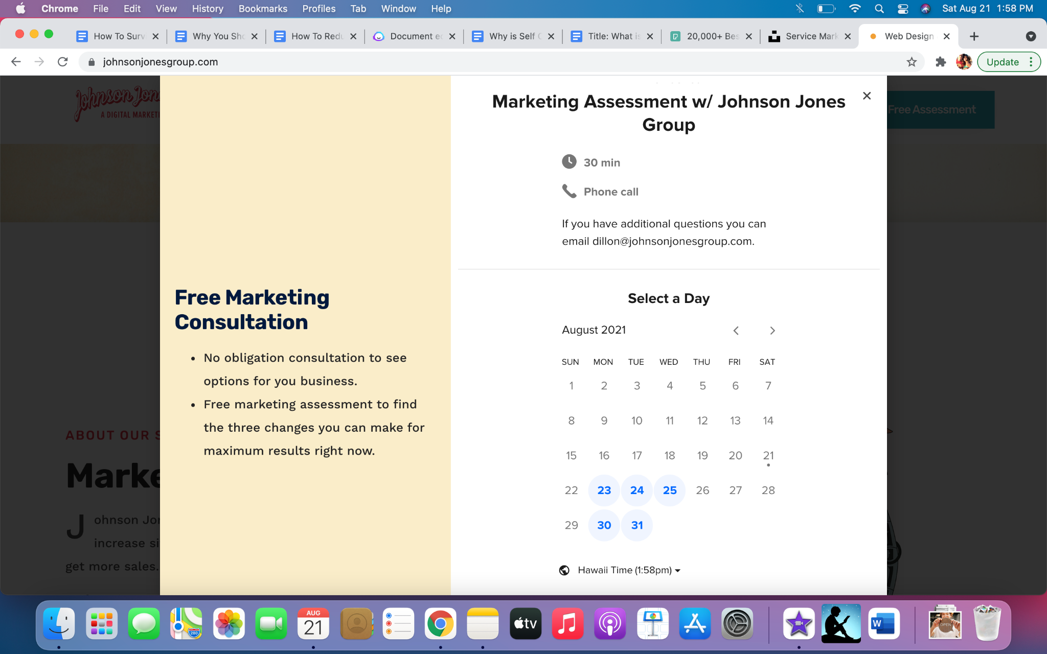 Marketing assessment for What Is Service Marketing