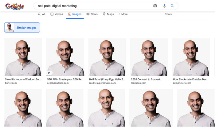 using google advanced image search for competitor research