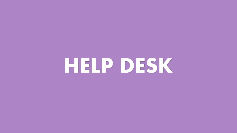 Help desk in customer service