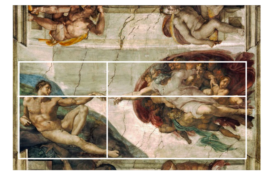 Design composition 1 - Usage of the Golden Ratio in Michelangelo's The Creation of Adam