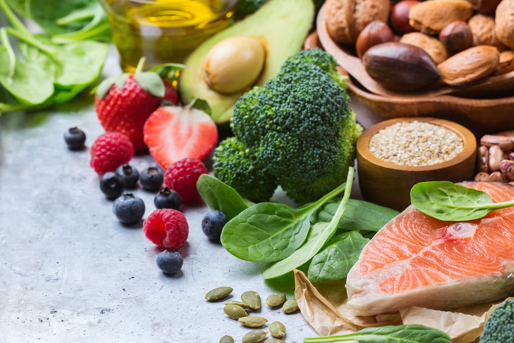 تناول الأطعمة الصحية