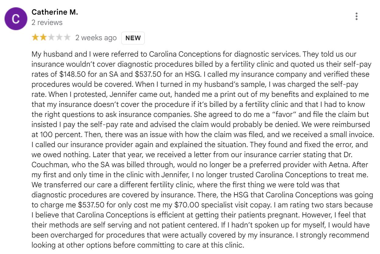 Carolina Conceptions review