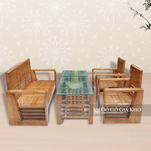Bàn Ghế hộp gỗ Sồi Màu - BG 016
