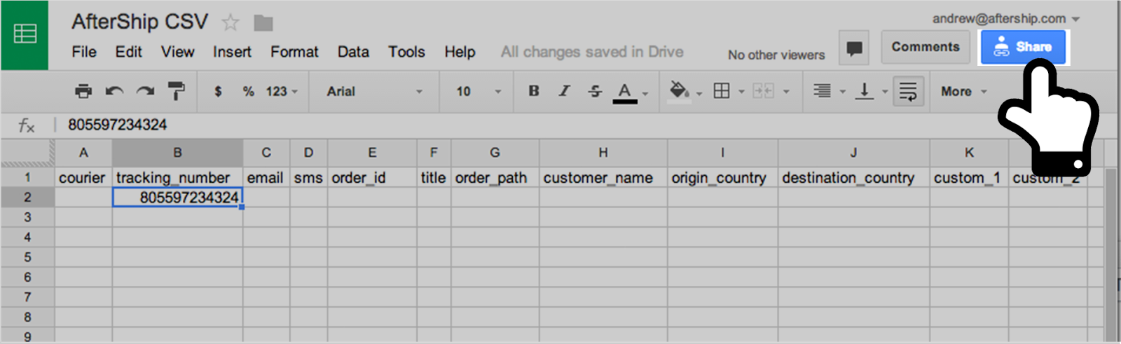How do I create a MisoData from a Google Drive spreadsheet