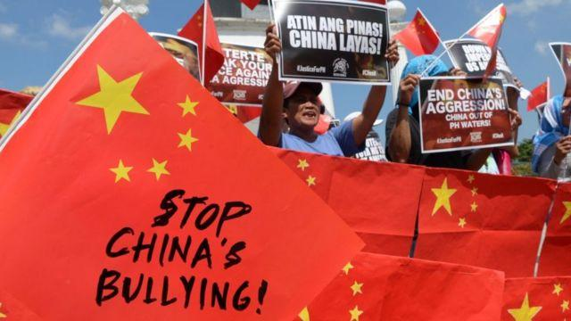 """A 2019 protest in Manila, Philippines against Chinese """"aggression"""" in the South China Sea"""