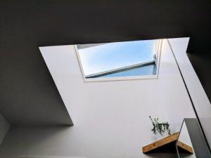 A skylight that's a great way to light a southern style home.