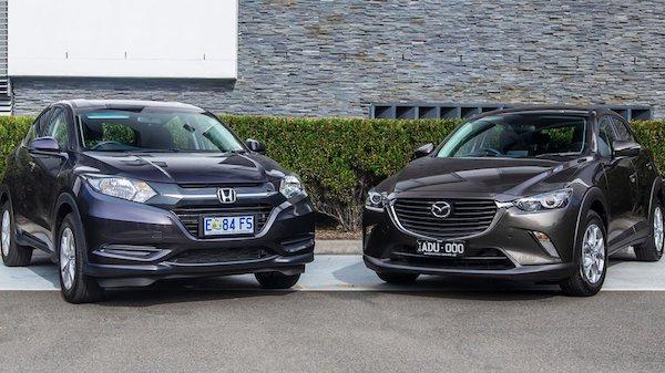 ราคาของ Honda HR-V และ Mazda CX-3 ใกล้เคียงกัน จึงเป็นสองรุ่นที่ถูกนำมาเปรียบเทียบ