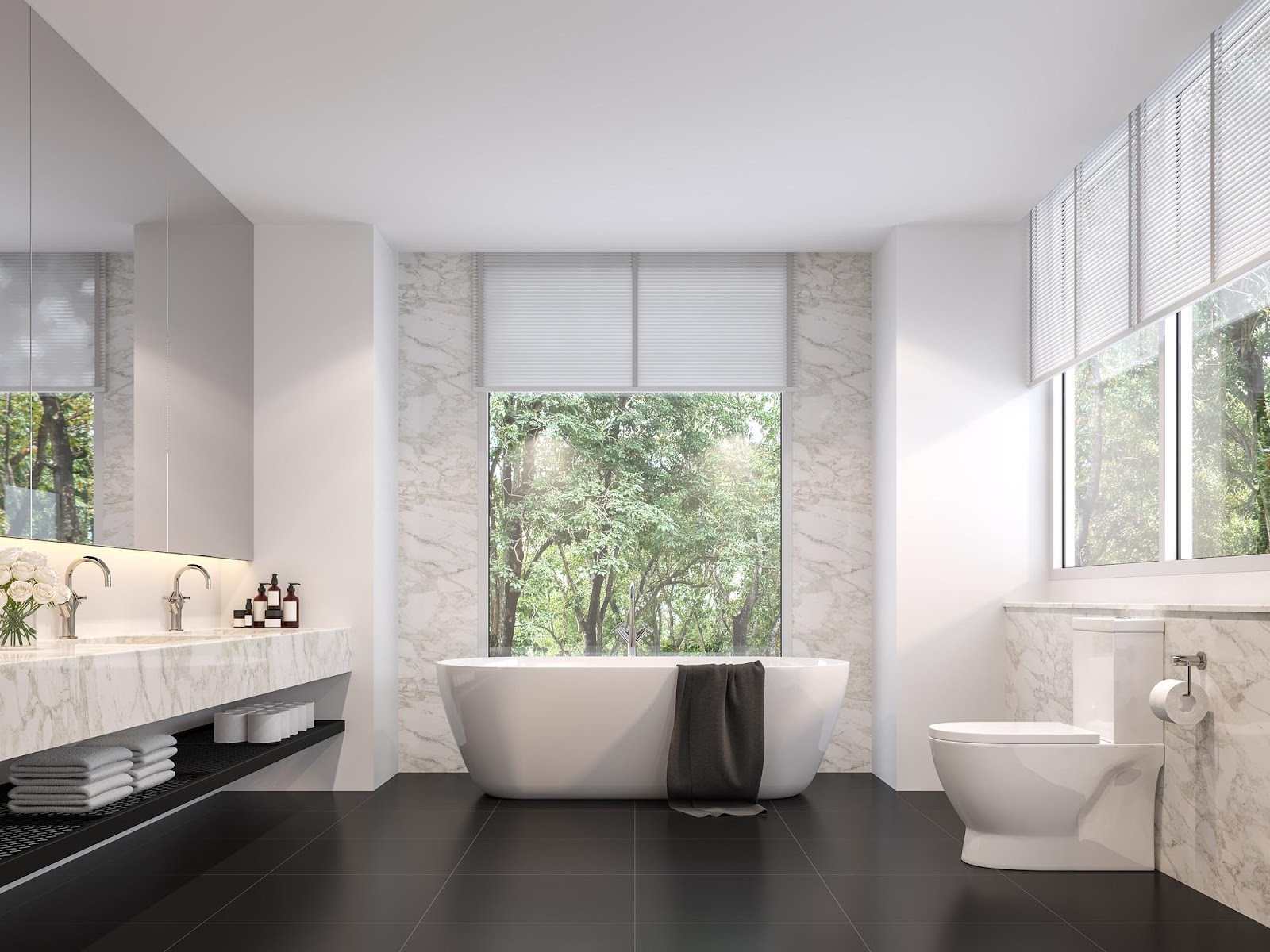 Window Treatments for Tall Windows   Elite Window Fashions