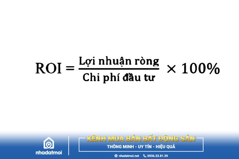 Công thức tính chỉ số ROI