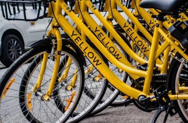 As bicicletas da Yellow adotavam o modelo por aplicativo sem local para devolução. (Fonte: Grow)