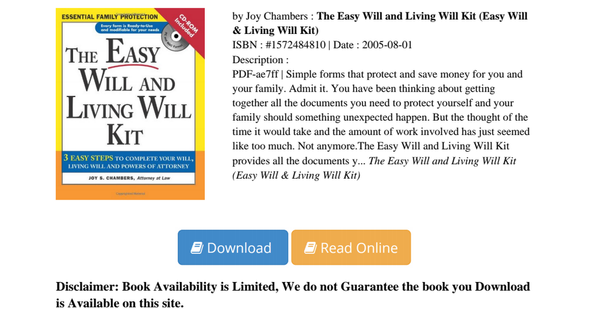 Easy will living kit pdf 7700ce2e3pdf google drive solutioingenieria Image collections