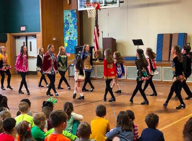 Irish Step Dancers perform for Hanlon students