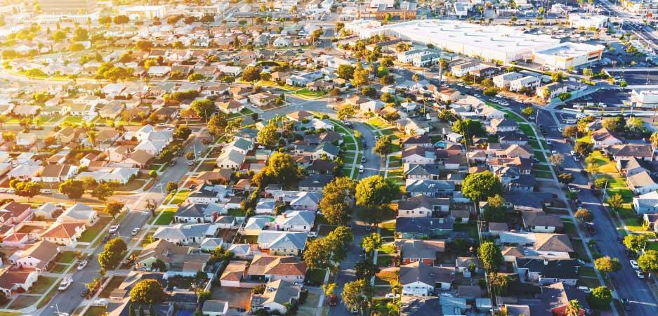 A residential neighborhood in Los Angeles