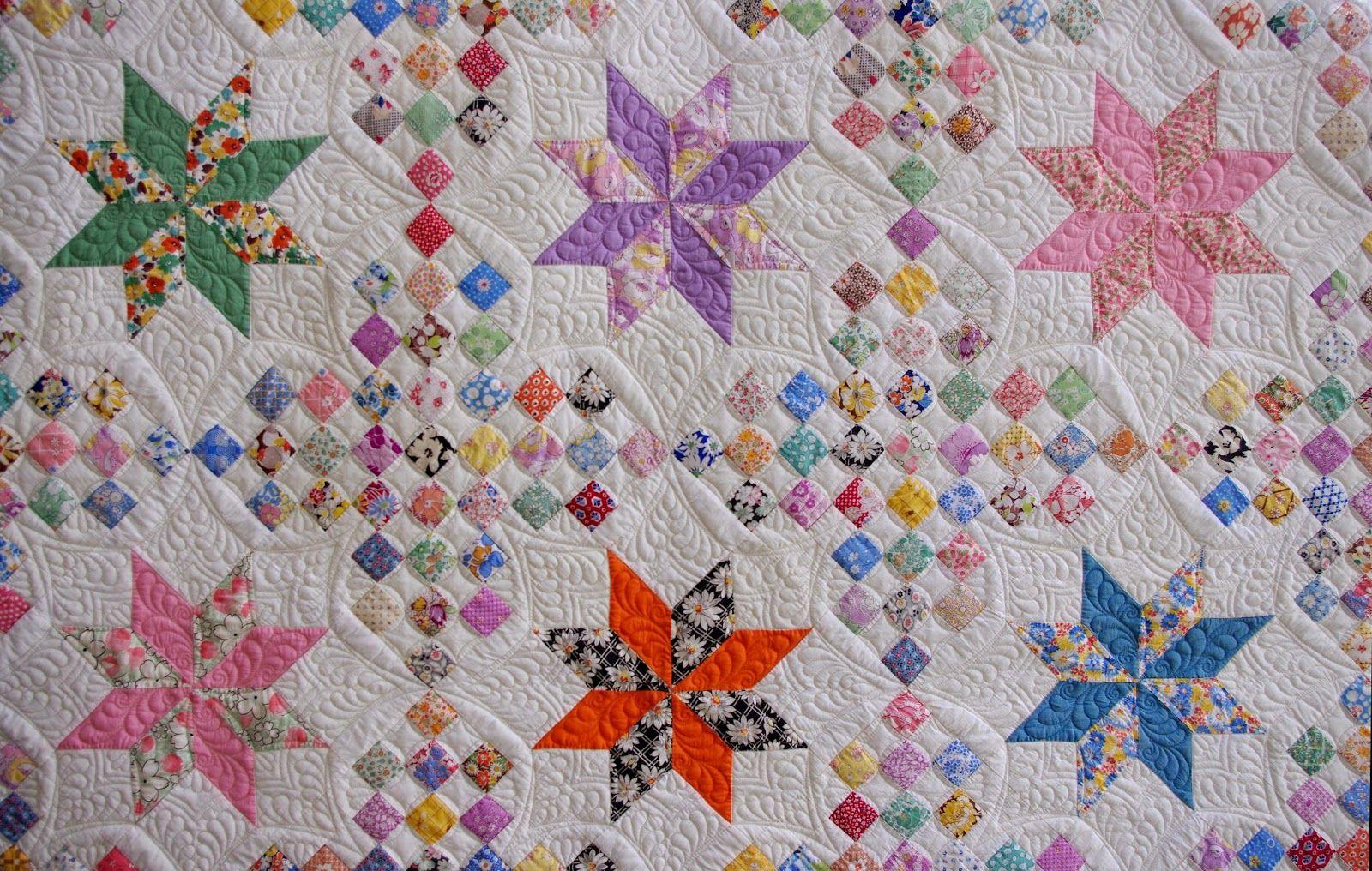 1930s LeMoyne Star Quilt