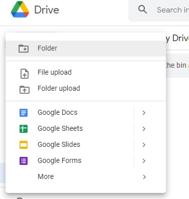 """To upload the RTF file, go to """"My Drive"""" > """"Upload files."""""""