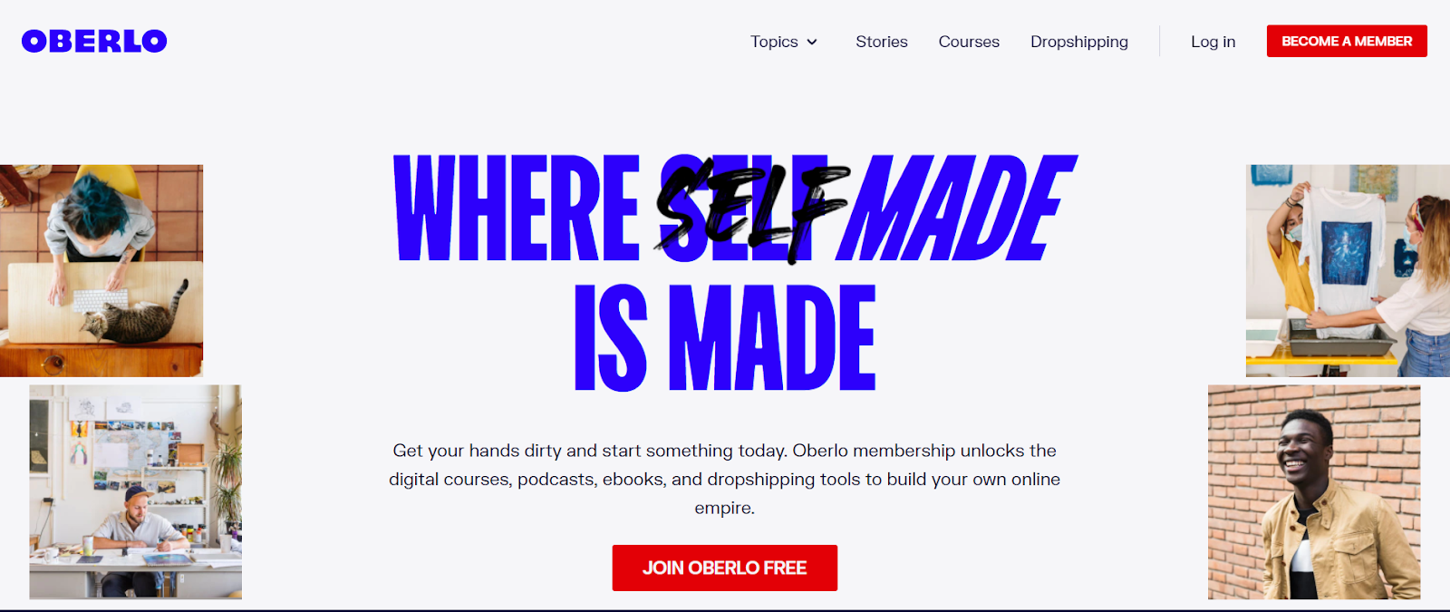 oberlo dropshipping website