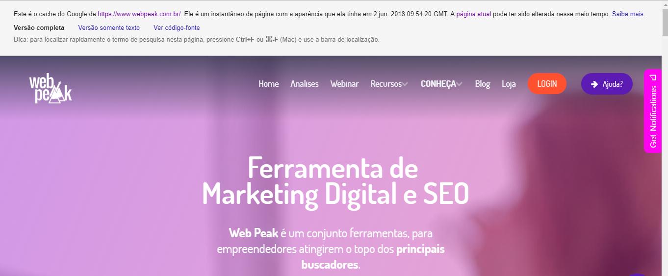 Google Cache webpeak