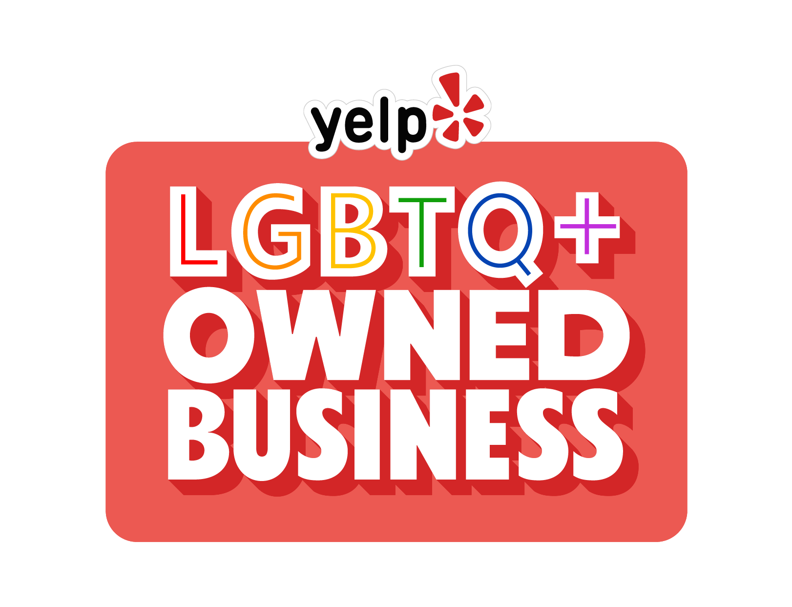 FREE Yelp Pride Month Sticker.