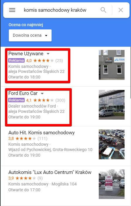 reklamy wmapach google
