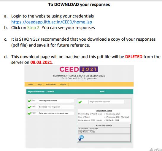 CEED 2022 Response Sheet