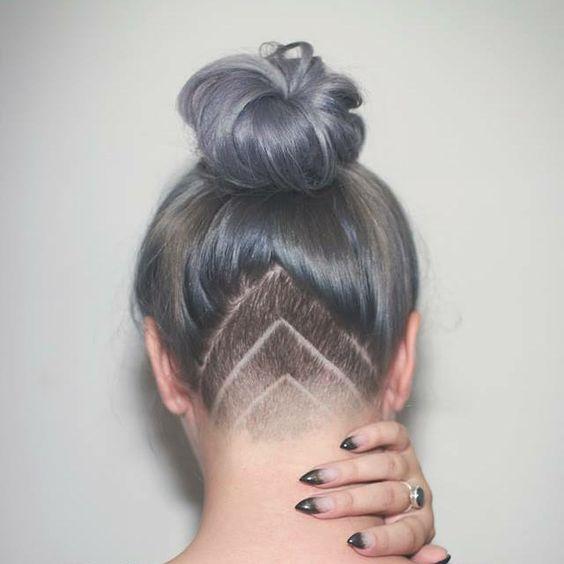 3.ไอเดียผมเท่ด้วยทรงอันเดอร์คัท แบบสามเหลี่ยม