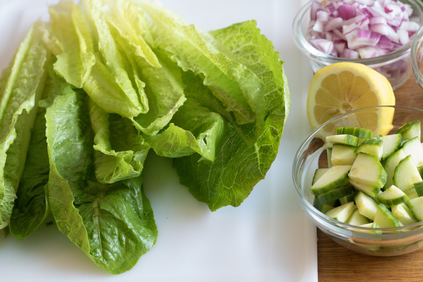 Romaine Lettuce and Lemon Patience & Pearls