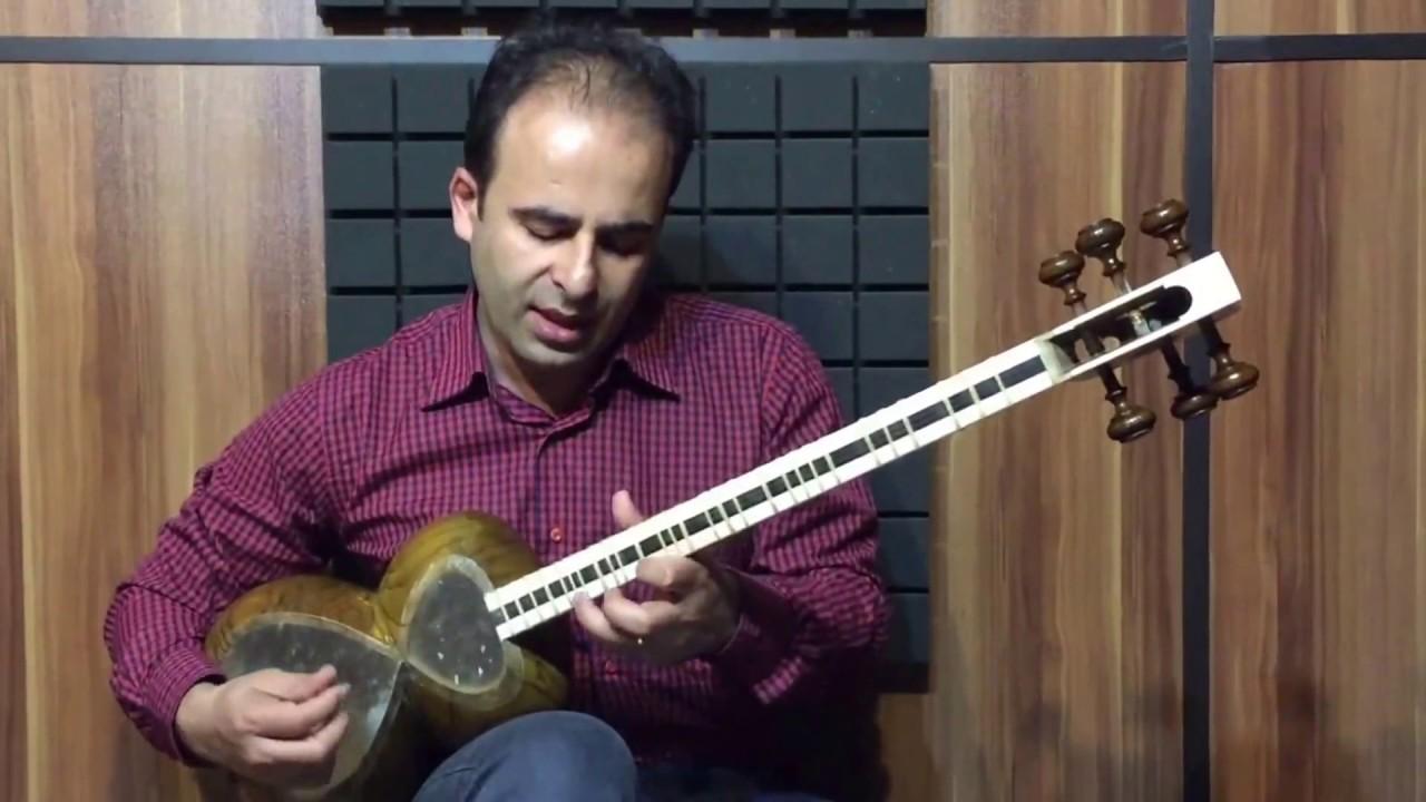 فیلم آموزش تصنیف آذری قدیمی بیات شیراز روایت غلامحسین بیگجه خانی تار نیما فریدونی