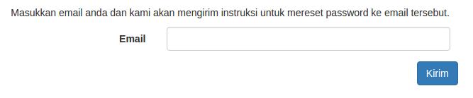 Gambar 2.2. Halaman Forgot Password