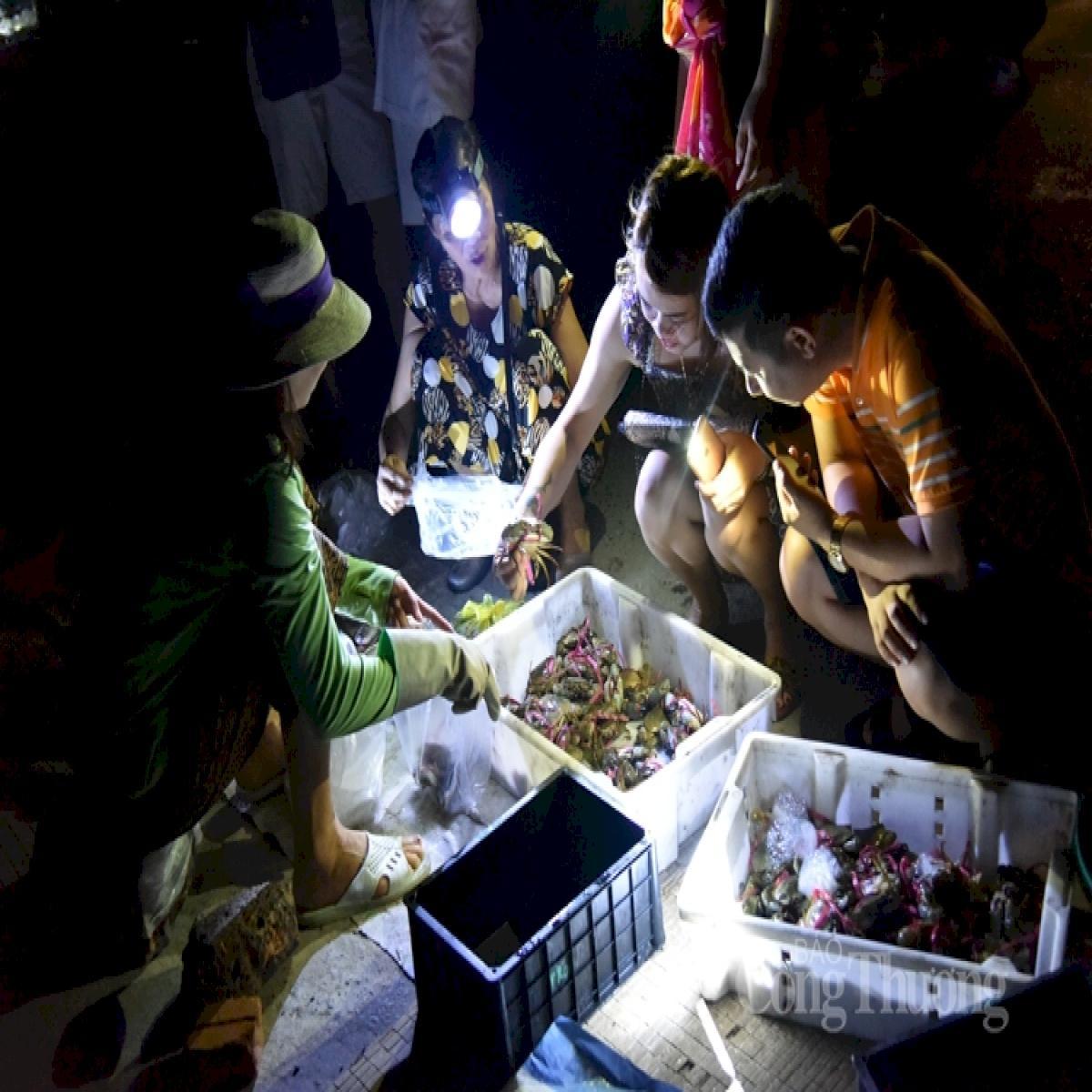 chợ hải sản quna lạn