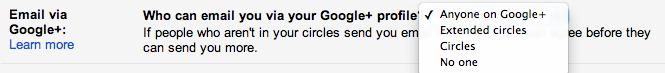 Change your Google+ circles setting