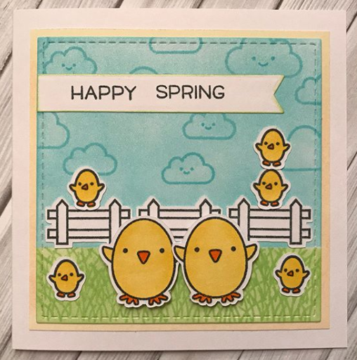 Lawn Fawn Stamps Happy Spring