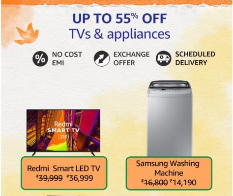 Amazon Great Freedom SaleTV & Appliances
