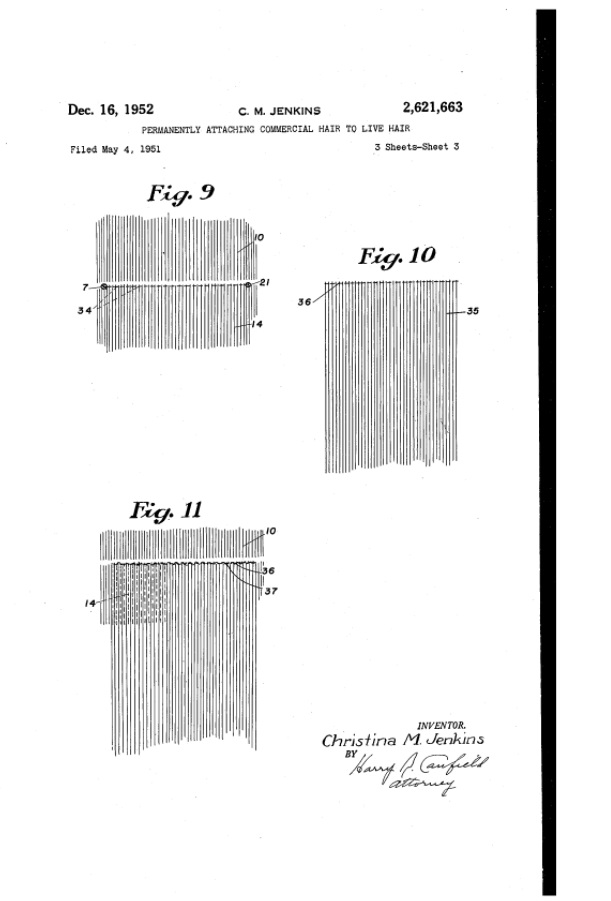 Technical Drawings 3 of HairWeeve by Christina Jenkins for her Patent.