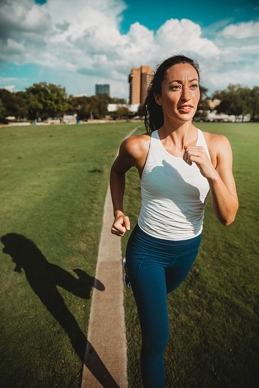 Keep a steady pace you can maintain when you first start a new running program.