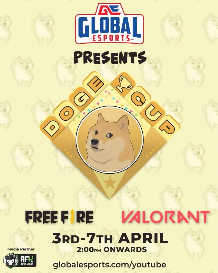 The Doge Cup, with a prize pool of 50,000 DogeCoins, will commence on April 3