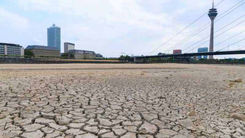 جفاف الراين في سويسرا
